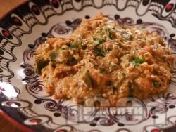 Вкусен миш маш - класическа рецепта със зелени чушки, яйца и сирене - снимка на рецептата